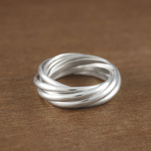 Sterling Silver Seven Strand Russian Band Ring - rings