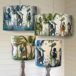 Tropical Giraffes Lampshade - office & study
