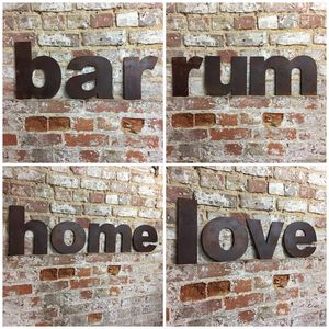 Reclaimed Rusted Metal Lower Case Letters - art & decorations