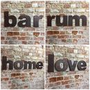 Reclaimed Rusted Metal Lower Case Letters