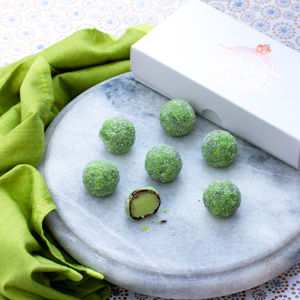 Mojito Truffles Chocolate Gift Box - greenery