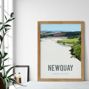 The Gannel Estuary, Newquay Fine Art Print