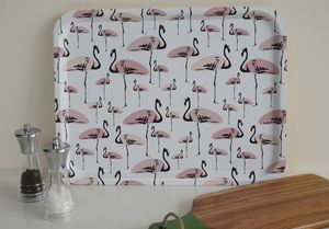 Flamingo Party Large Rectangular Serving Tray - baby & child sale