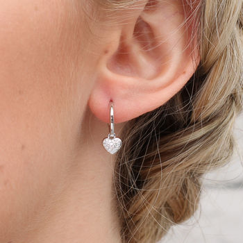 Sterling Silver Mini Hoop And Charm Earrings