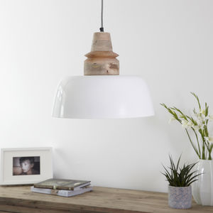 Cream Metal Pendant Light - pendant lights
