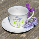 Bluebell Bone China Breakfast Cup And Saucer