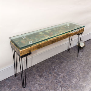 Handmade Vintage The Last Supper Console Table