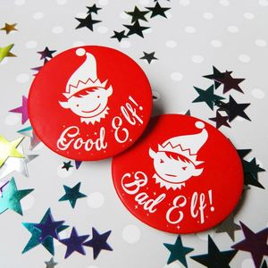 Good Elf Bad Elf Badge - women's jewellery