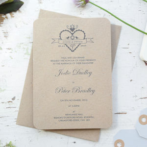 Hearty Wedding Day/Evening Invitation - invitations