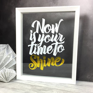 'Now Is Your Time To Shine' Gold Papercut