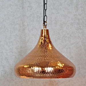 Copper Hammered Pendant Light - lampshades