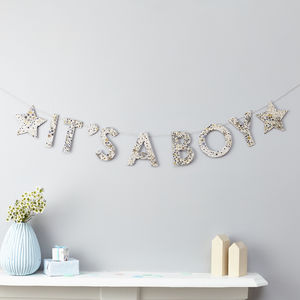 New Baby Liberty Garland Fabric And Card - home accessories