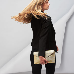 Personalised Metallic Clutch Bag - clutch bags