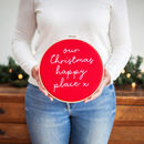 Our Christmas Happy Place Hoop Sign