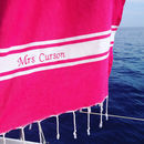 Set Of Two Personalised Embroidered Beach Foutas