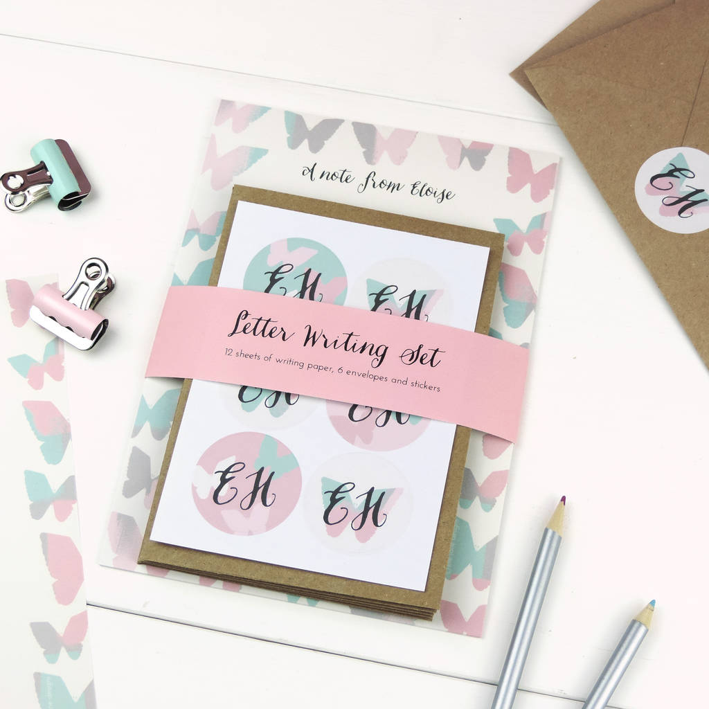 Personalised letter writing set