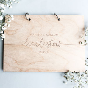 Personalised Modern Wedding Guest Book - albums & guest books
