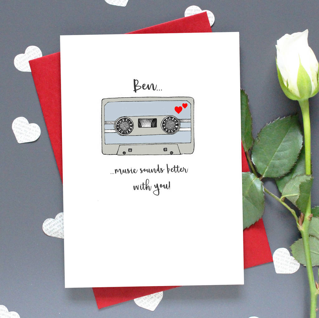 'Music Sounds Better With You' Mixtape Card