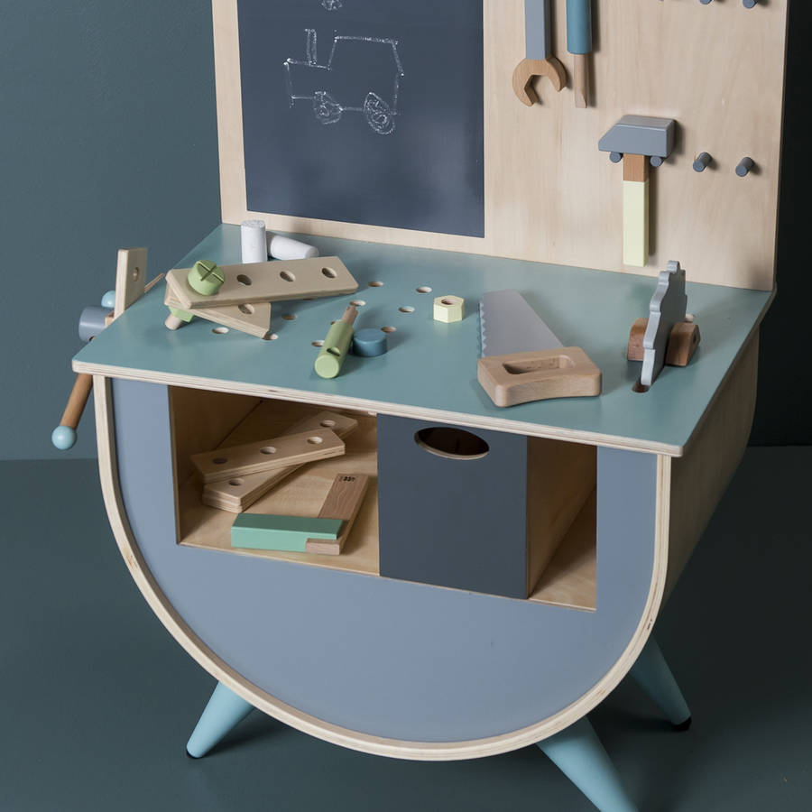 Wooden Play Work Bench And Tool Kit By Little Ella James