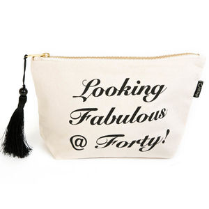30th 40th 50th And 60th Birthday Make Up Bag - wash & toiletry bags