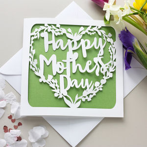 Mother's Day Papercut Card - mother's day cards