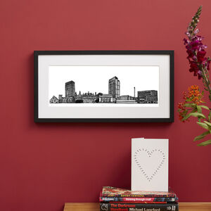 Sheffield Skyline Screen Print
