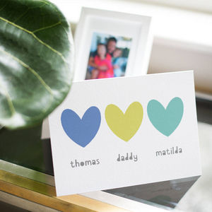 Personalised Sibling Father's Day Card - personalised cards