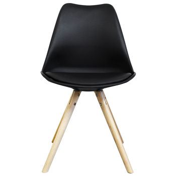 Black Copenhagen Chair With Wooden Legs