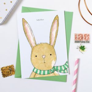Hello There Baby Rabbit Card