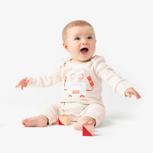 Crab Organic Baby Grow - clothing