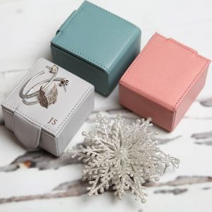Personalised Leather Trinket Box