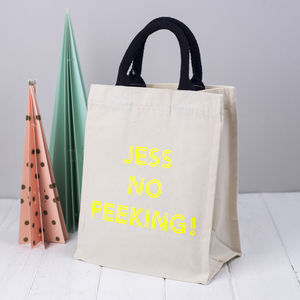 Personalised Gift Bag No Peeking