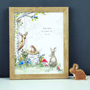 Personalised Woodland Animals Nursery Print