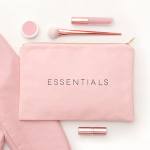 'Essentials' Blush Pink Pouch - clutch bags