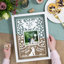 Personalised Photo Wedding Papercut