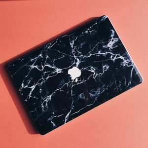 Black Marble Macbook Vinyl Skin - laptop bags & cases