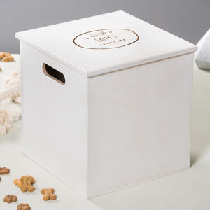 Personalised Wooden Dog Treat Box - food, feeding & treats