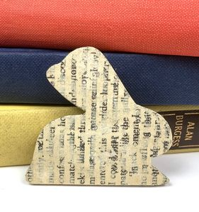 Recycled Book Brooches