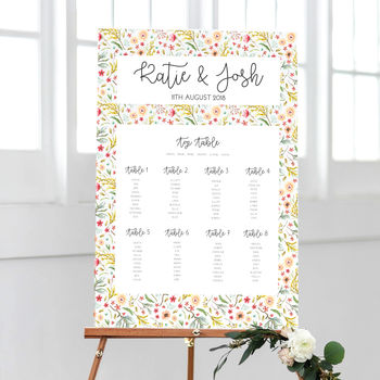 Joanie Wedding Table Plan