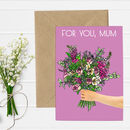 Floral Bouquet Illustration Mothers Day Card