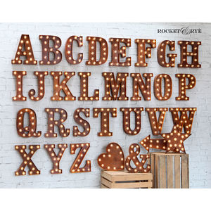 Carnival Letter Lights 'A To Z' Rust - decorative letters
