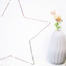 Hanging Silver Christmas Star Fairy Light Decoration