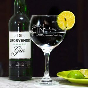 Personalised Gin Balloon Glass - drink & barware