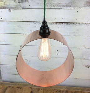 Port Isaac Hand Rolled Copper Pendant Light Shade