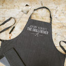 Personalised Grey Denim Bbq Apron