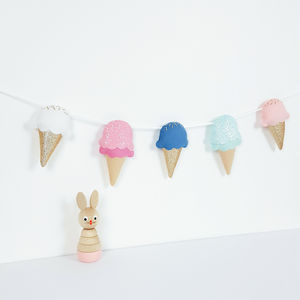 Glitter Ice Cream Garland - children's room