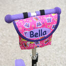 Child's Personalised Pink Butterfly Handlebar Bag
