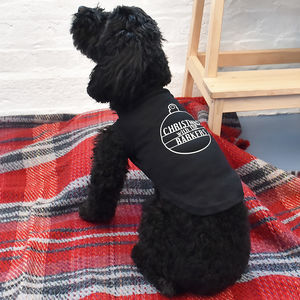 'Christmas With The…' Personalised Pet Vest