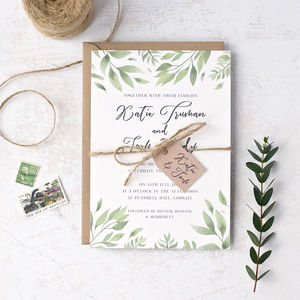 Willow Watercolour Wedding Invitation - menu cards