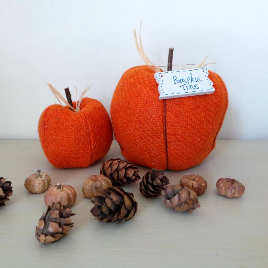 pure wool autumn pumpkin decoration by the blueberry patch by sarah ...
